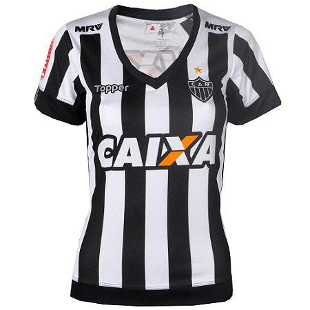 45bf96e57f Camisa Atlético Jogo I Feminina 2017 Topper