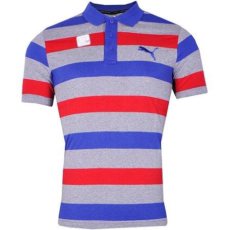 Camisa Pólo Hero Stripe Jersey Puma