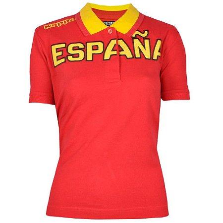 Camisa Polo Feminina España Kappa
