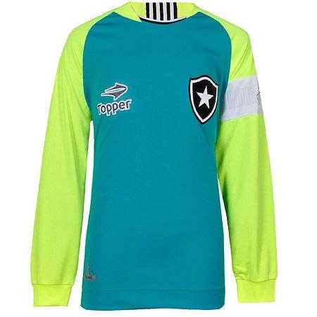 Camisa Botafogo Goleiro Jefferson Juvenil Manga Longa 2016 Topper