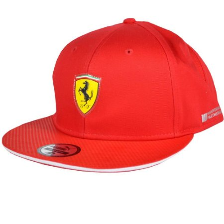 Cap Ferrari Flatbrim Puma - Vermelho