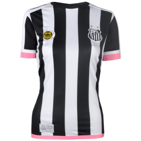 Camisa Santos Jogo II Torcedor Feminina 2017 Kappa
