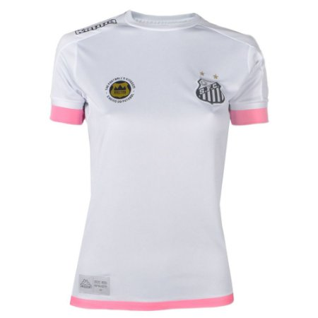 Camisa Santos Jogo I Torcedor Feminina 2017 Kappa