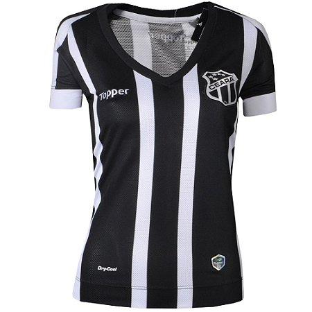 Camisa Ceará Jogo I Feminina Sem Número Sem Patrocínio 2017 Topper