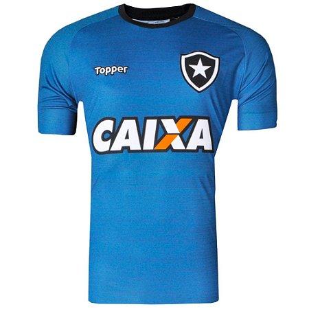 Camisa Botafogo Treino Atleta C Patrocínio 2017 Topper  83eaea182bb57