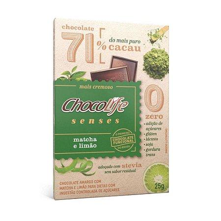 Chocolife Senses 71% Matcha e Limão 25g