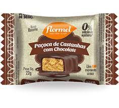 Paçoca de Castanhas com Chocolate Zero Adição de Açúcar - Flormel 22g