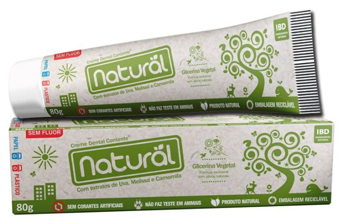 Creme Dental Contente Orgânico Natural
