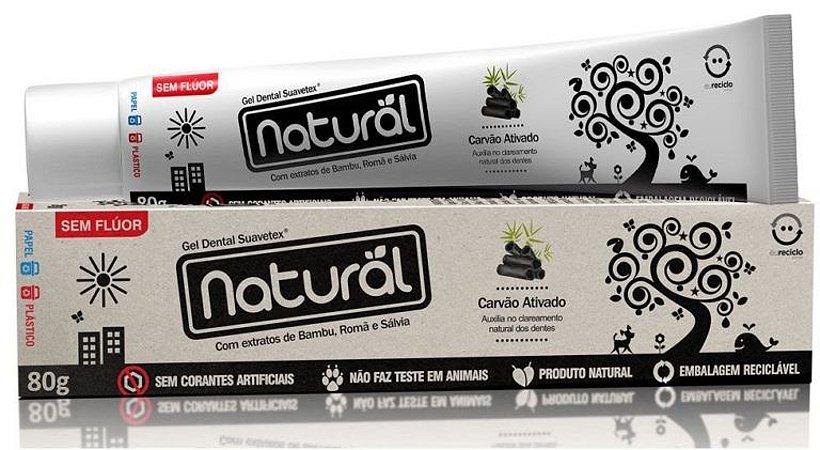Creme Dental Natural Suavetex com Carvão Ativado