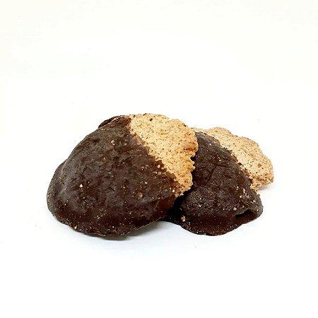 Biscoito de castanha de caju com chocolate vegano - a granel
