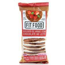 Biscoito de Arroz com Chocolate ao leite Fit Food 70g