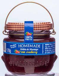 Geleia Homemade Zero Açúcar - Morango com Cranberry 170g