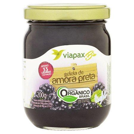 Geleia Orgânica Amora Preta Light Viapax Bio Vidro 200g
