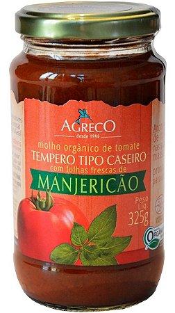 Molho De Tomate Orgânico 325G Agreco