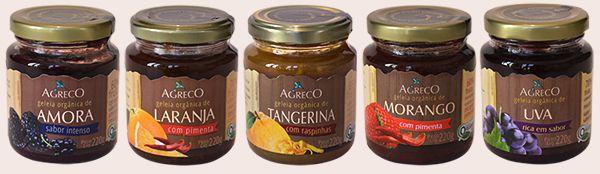 Geleia orgânica de frutas 220g AGRECO