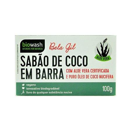 Sabão De Coco Natural Em Barra 100g Bela Gil Biowash Vegano