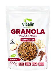 Granola Integral de Maçã e Canela 200g - Vitalin