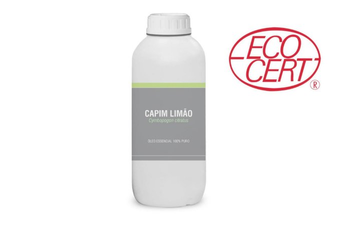 1L Óleo Essencial de Capim Limão (Cymbopogon citratus) ORGÂNICO