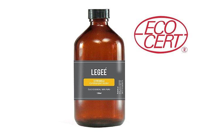 100ml Óleo essencial de Citronela (Cymbopogon nardus) ORGÂNICO