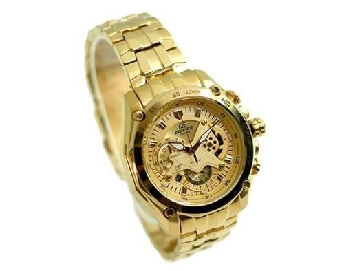7066095d294 Relógio Casio Edifice EF-550FG-9AV Dourado - Cronos Funcionais ...