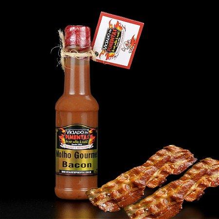 Molho de Pimenta Gourmet Sabor Bacon - 150ml - Viciado em Pimentas