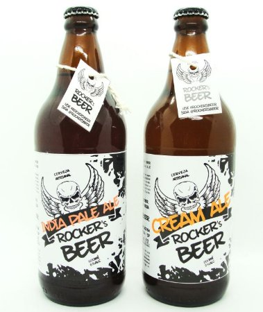 Cerveja Artesanal Rockers Beer - Kit 2 Garrafas 600ml - (IPA / Cream Ale)