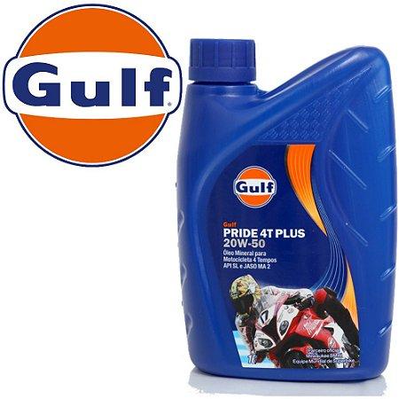 GULF 20w50 Mineral Óleo para Motor de Moto e Quadriciclo 4T