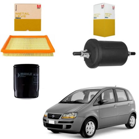 Kit Filtros Mahle FIAT IDEA 1.4 Flex 2005 Em Diante OC259