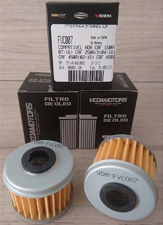 Filtro De Óleo Honda Crf 150 - 250 - 450 (R-X) E Outras - FVC007
