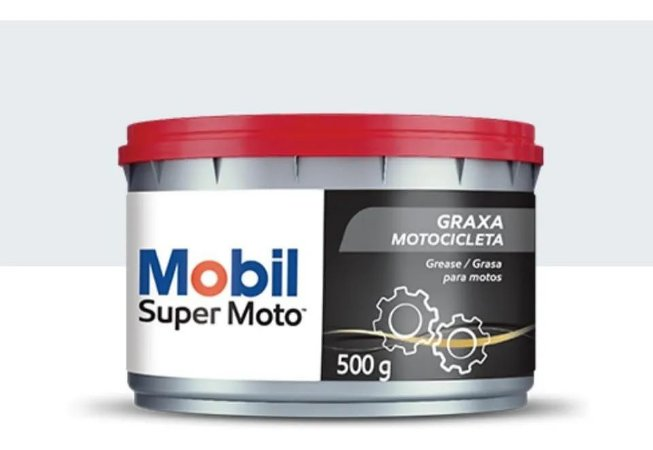 Graxa Mobil Super Moto Grease 500g Graxa Verde