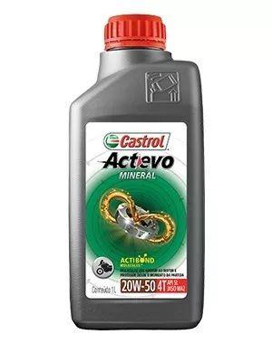 Óleo Castrol Actevo 20w50 4t Api Sl Mineral Jaso Ma2 1l