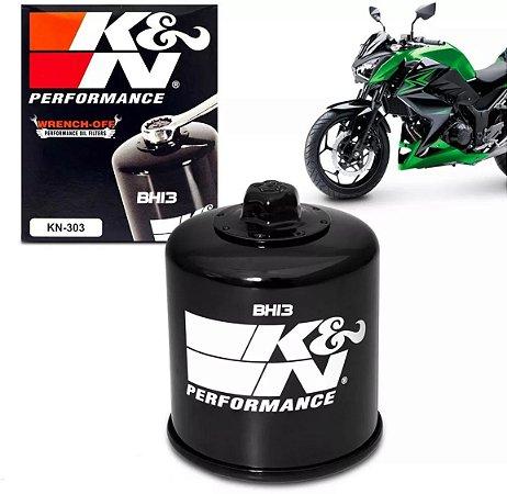 Filtro de Óleo Alta Performace K&N KN303 Kawasaki Ninja 300R KN-303