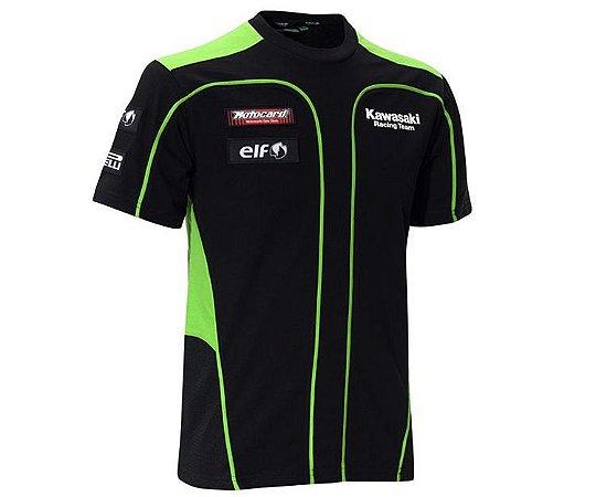 Camiseta Kawasaki Racing Team Motogp Camisa Manga Curta B010