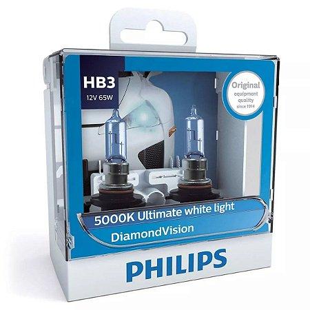 Philips HB3 Diamond Vision 5000k Lâmpada Original