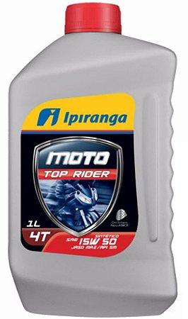 Óleo 15W50 100% Sintético Ipiranga Moto Top Rider