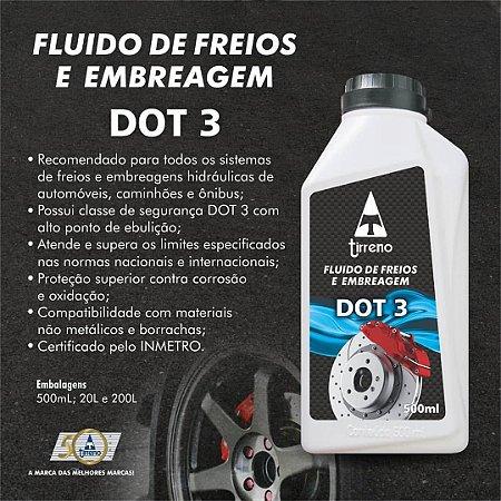 Fluido Para Freio e Embreagem DOT 3 (Tipo 3) Tirreno