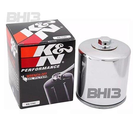 Filtro Oleo K&n Cromado Harley V-rod Kn-174c