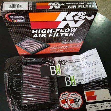 Filtro Ar K&n Esportivo Yamaha Kn Mt-09 Mt09 Mt 09 Ya-8514