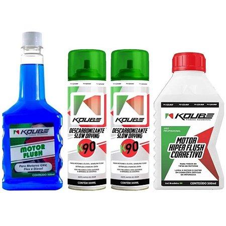 Combo Koube 1 Flush Preventivo + 1 Flush Corretivo + 2 K90