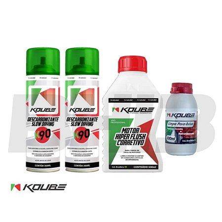 Combo Koube Flush Corretivo K90 Descarbonizante Limpa Para-brisa