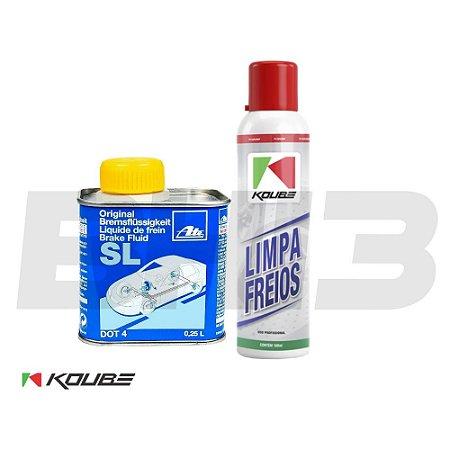 Kit Koube Limpa Freios + Dot 4 Ate Sl