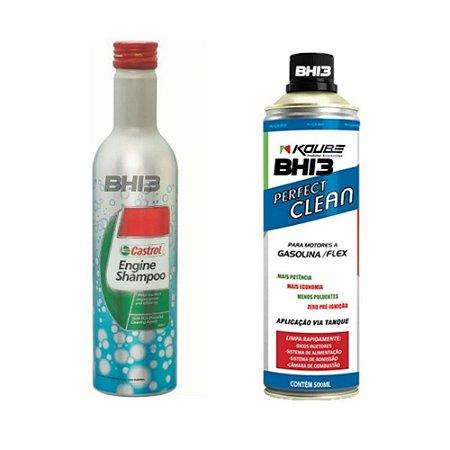 Shampoo Castrol Engine Flushing + Koube Perfect Clean