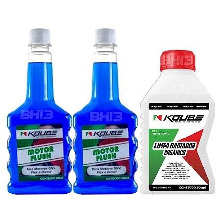 Kit Koube Motor Flush Preventivo E Koube Limpa Radiador
