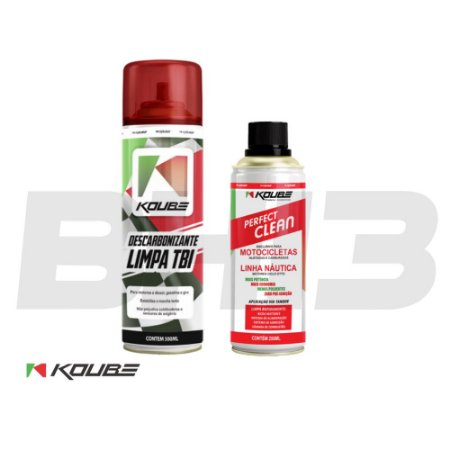 Combo Koube Perfect Clean Moto + Descarbonizante Limpa Tbi