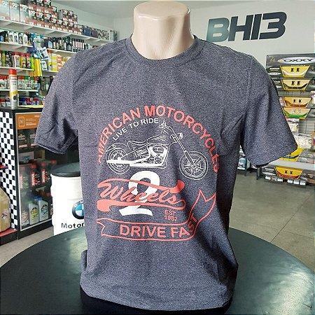 Camisa Vintage American Motorcycles Fast Camiseta Ref.402
