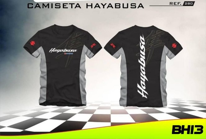Camisa Suzuki Hayabusa 1300r GSX Racing Camiseta Ref.280
