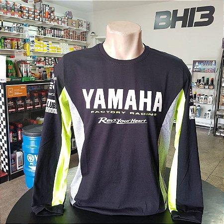 Camisa Manga Longa Yamaha YZR M1 Moto GP Motogp Ref.461