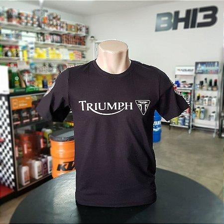 Camiseta Preta Triumph Tiger Scrambler Speed Twin Ref.276