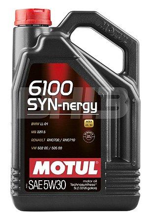 6100 5W30 Motul Sintético Galão Com 5 Litros Óleo SYN-nergy