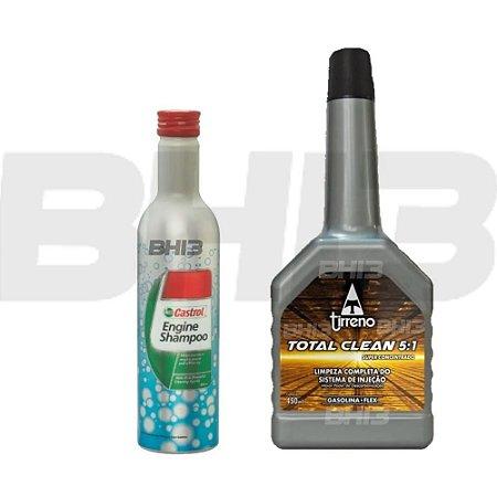 Tirreno Total Clean 5 Em 1 E Shampoo Castrol Engine Flushing